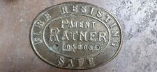 Antique safe plaque box bank London Ratner