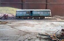 OO gauge scrapyard Railbus diesel loco, heavily rusted and weathered