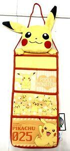 Sega Pokemon Authentic Anime Fabric Hanging Pocket Storage Pikachu Style SG8423
