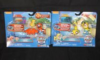 NEW Paw Patrol RUBBLE & ZUMA Light Up Pup Pack Sea Patrol Set of 2 Toys