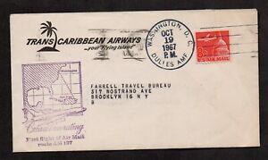 US #C65, FFC Route AM 137, Washington, DC, to San Juan, PR, 1967.