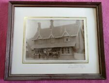 "FRAMED ANTIQUE EDWARDIAN EARLY 20TH CENTURY PHOTOGRAPH ""THE CHEQUERS"""