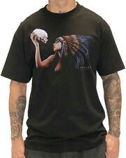 Crew Neck T-Shirts Skull Sullen for Men