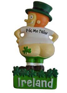 Cheeky Ireland Leprechaun Pog Mo Thoin Resin Fridge Magnet (sg)