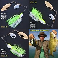 Bassdozer spinnerbaits INDIANA WILLOW Chartreuse White spinner bait bass lures