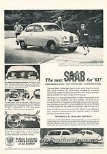 1961 SAAB V4  - Original Advertisement Print Art Car Ad J682