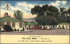Bishop CA The Elms Motel Linen Postcard