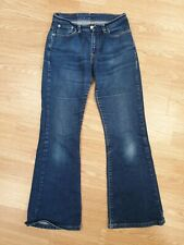 GG476 WOMENS LEVI'S 750 FADED BLUE STRETCH SLIM FLARE DENIM JEANS UK 10 W28 L30