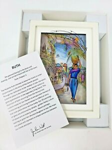 Jean Pierre Weill 3D Painting On Glass Framed Original Box Ruth Biblical Story