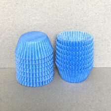 MINI Light Blue Cupcake Liners, Mini Blue Cupcake Wrappers, Blue Candy Cups