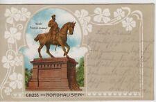 Litho Gruss aus Nordhausen - Kaiser Friedrich Denkmal 1904