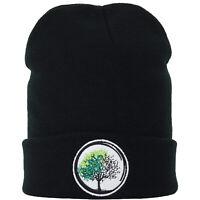 Strickmütze: Buddhismus - Lebensbaum - Wintermütze Haube Beanie Winter Unisex