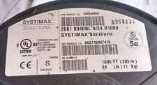 Systimax Solutions 2061 004BBL, 4 pairs, cat 5e, bulk cable blue, 24 awg, UTP