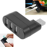3 Port USB 2.0 Mini Rotate Splitter Expansion Adapter Hub for PC Laptop Notebook