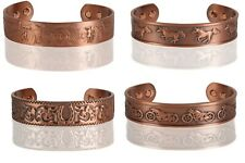 Arthritis Pain Therapy Energy Cuff Copper Magnetic Bracelet - Antique Copper