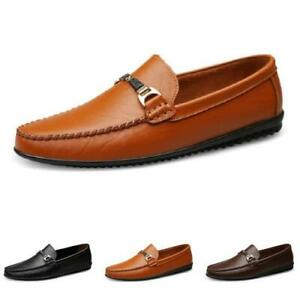 Mens Slip on Loafers Shoes Driving Moccasins Pumps Fur Inside Warm Breathable L