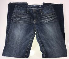 Guess Jeans Mid Rise Distressed Dark Wash Women's Stretch Size 28 Jeans 29x32