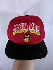 Iron Man avengers Marvel Snapback 1993 Annco toon blockhead 90s hat cap (youth)