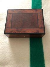 Mens Francesco Lionetti Wooden Jewelry Box Organizer Made In Italy