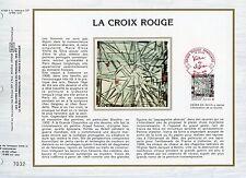 FEUILLET CEF / DOCUMENT PHILATELIQUE / VIEIRA DA SILVA / CROIX ROUGE 1986