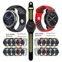 Silicone Bracelet Strap Watch Band For Samsung Gear S3 Classic/Frontier 22mm S2