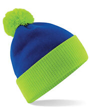 Beechfield Snowstar Two-Tone Beanie Caps & Hats Etc All Sizes and Colours