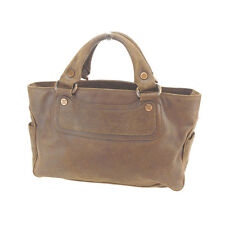 Celine Handbag Brown Bronze Woman Authentic Used Y4012