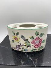 """Vintage Old Foley (James Kent) """"Chinese Rose"""" Porcelain Toothbrush Holder"""