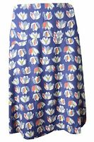 New White Stuff size 8 - 18 Navy Blue Red Yellow Floral Tulip A-line Skirt