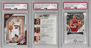 Stephen Curry 2009-10 Upper Deck Draft Edition RC Rookie lot (3) all PSA MINT 9