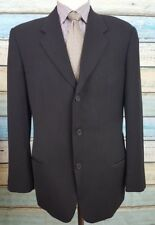 Giorgio Armani Size 40R Black Mens Single Breasted Wool 3 Button Blazer