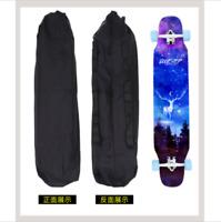 Black Waterproof Canvas Skateboard Bag Longboard Case Backpack Skating 110x30cm