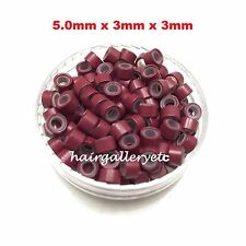 Silicone Lined Micro Rings Link Crimp Beads Hair Extension I tip Free Hook /Loop