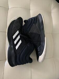 Adidas Kid's Cross Em Up Basketball Shoes - Black/White - Size: 5Y Ortholite