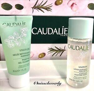 CAUDALIE Vinopure Pore Purifying Gel CLEANSER 30ml/1oz+TONER 50ml/1.6oz TRAVEL