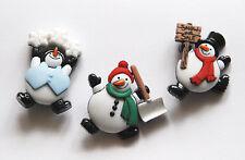Roly Poly Snowmen Buttons /  Dress It Up Christmas # 7493 / 3 Cute Snowmen