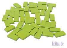 LEGO - 50 x Fliese 1x2 lime - grün / grasgrün / Lime Tile / 3069b NEUWARE (L14)