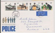 (JP-252) 1979 GB FDC 4 stamps police (252IS)