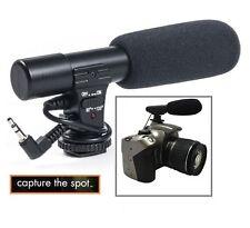 Professional Mini Condenser Microphone For Canon EOS Rebel T6i T6s 750D 760D