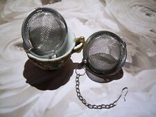 2 Pack Locking Tea Infuser Balls Mesh Loose Leaf Herb Strainer Stainless