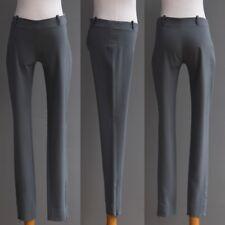 Balenciaga Grey Low Rise Cigarette Pants Skinny Trouser Zipper Ankle NWOT 34 XS