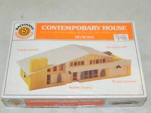 Bachmann HO Plasticville Contemporary House Building Kit NIB Factory Sealed
