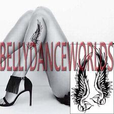 BLACK ANGEL WINGS TEMPORARY TATTOO ARM LEG BODY ART WATERPROOF STICKER NON TOXIC