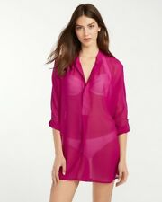Tommy Bahama, Women's, Chiffon Tunic Cover Up, Wild Orchid Small