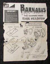 Vintage Barnabas Vampire Dark Shadows Mpc Model Kit Instructions Only Gd+ 2.5