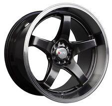 XXR 555 18x8.5 5x100/114.3 +25 Chromium Black Wheels Fits 350z G35 240sx Rx8 Rx7