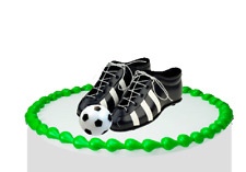 Soccer Cleats & Ball Cake Decoration Topper New