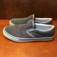 Crevo Suede Casual Slip On Shoes US Men's Size 10 Gray/Brown