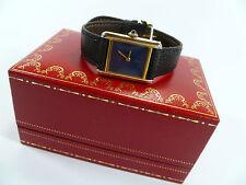 Erwachsene Cartier Armbanduhren mit Armband aus echtem Leder für Damen