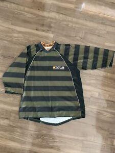 Used Troy Lee Designs TLD Men Large L Ruckus Jersey Enduro Stripes 3/4 Sleeves
